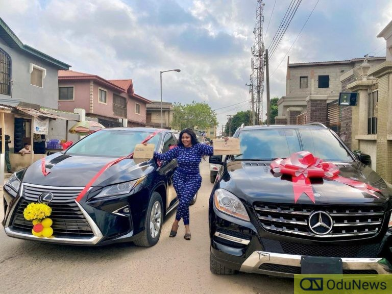 Nollywood Actress, Biodun Okeowo Buys A Car And Got One Free On Her Birthday