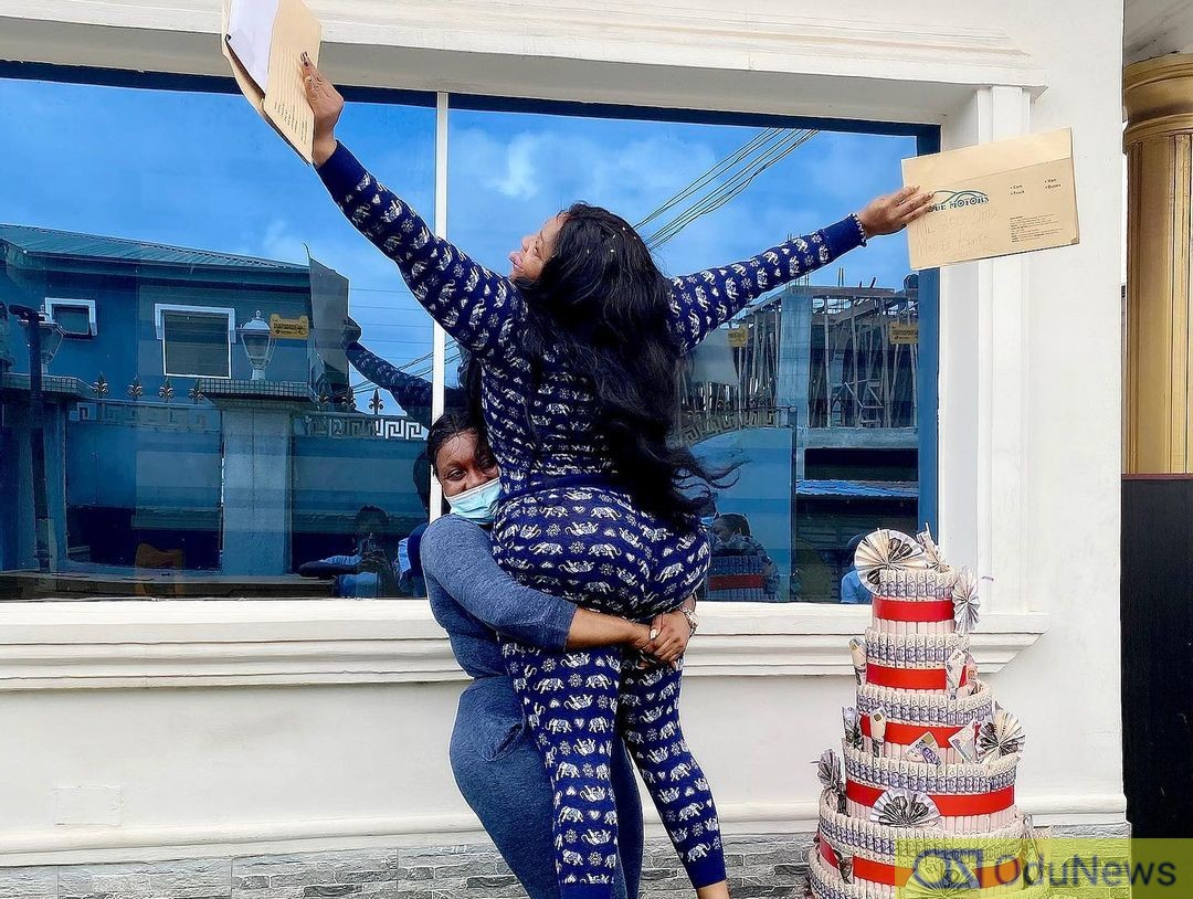 Nollywood Actress Buys A Car And Got One Free On Her Birthday