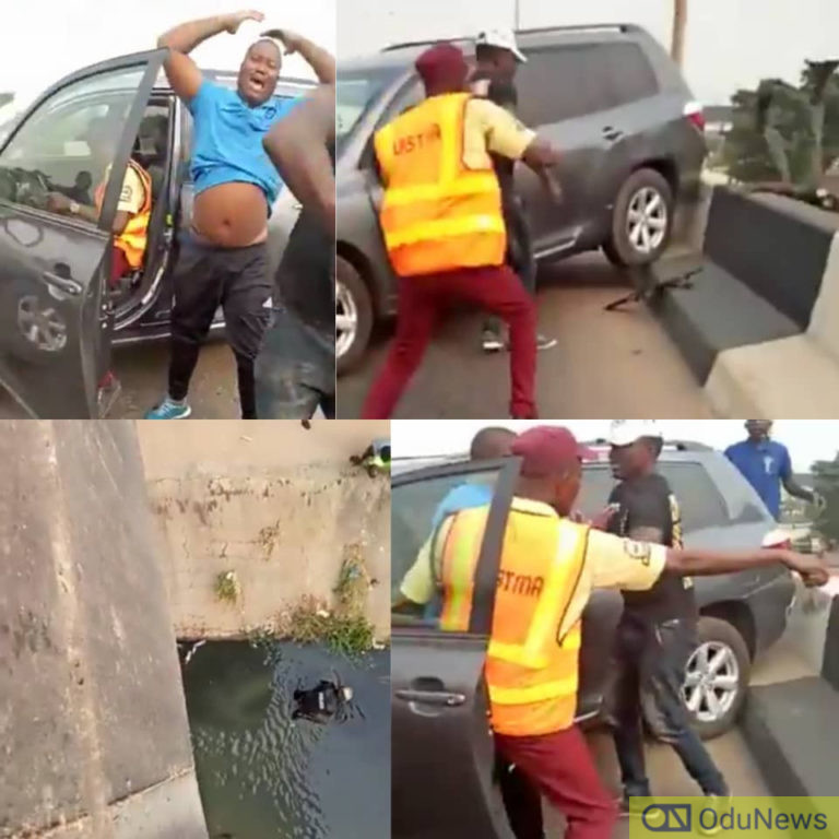 Driver Hits Policerman Off The Bridge In Lagos While Trying To Escape Arrest