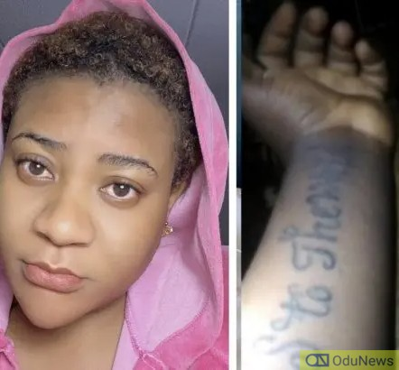 Nkechi Blessing Apologizes For Calling Out Follower Who Tattooed Her Name