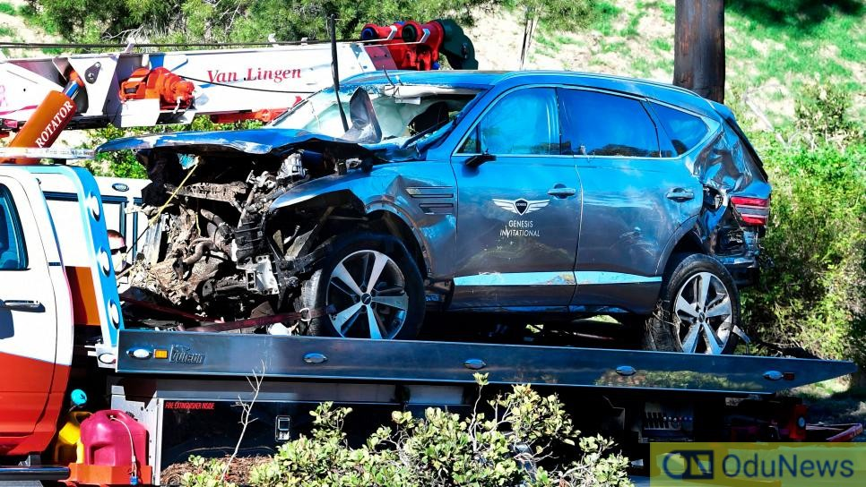 Tiger Woods Suffers Multiple Leg Injures In Car Crash In Los Angeles