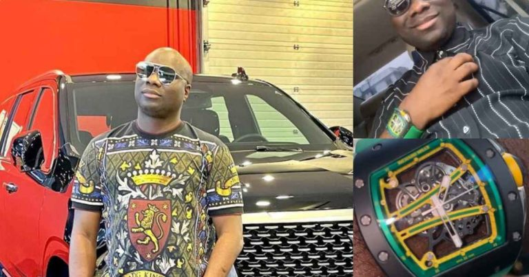 Mompha shows off Richard Mille wristwatch worth N118M (Video)