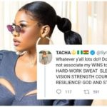 Tacha blasts troll who cited her as example of how easy it is for an 'idiot' to become celebrity