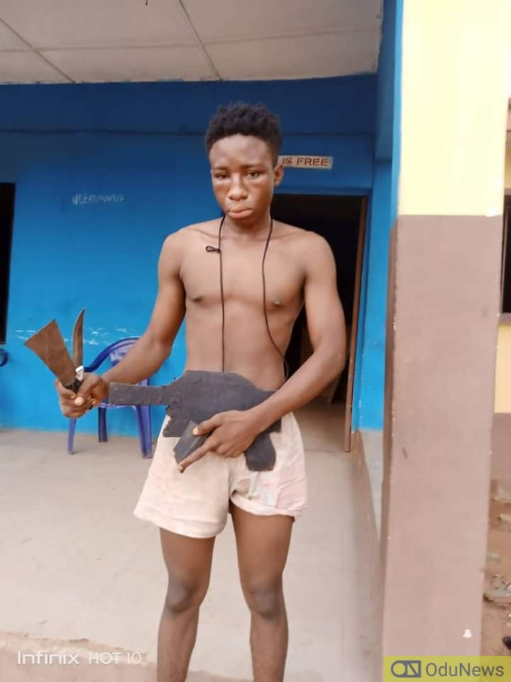 Police Nab Teenage Robber Who Uses Dummy Gun To Operate In Delta
