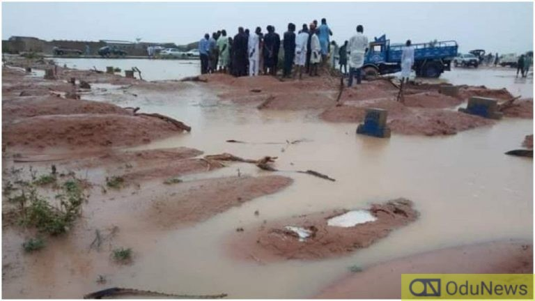 Flood Submerges Graveyard, Exposes Corpses In Senate President's Home Town