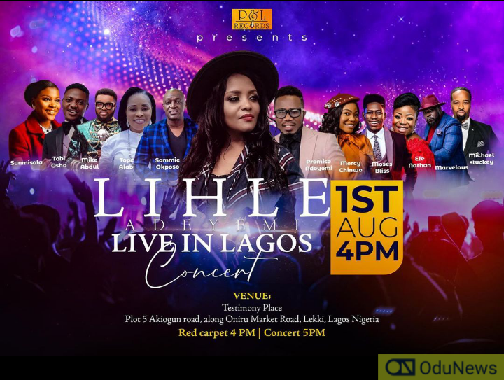 Mercy Chinwo, Mike Abdul, Others To Minister At Lihle Adeyemi Live In Lagos Concert
